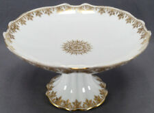 Redon Bawo & Dotter Limoges Gold Floral & Scrollwork Medallion Compote AS IS