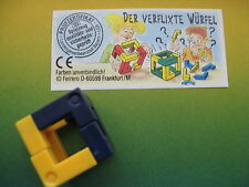 WÜRFEL PUZZLE  - DADI GIALLO - BLU    + CARTINA 612 308  1995 kinder germania