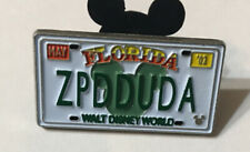 Disney WDW Hidden Mickey ZPDDUDA license plate  SPLASH MOUNTAIN