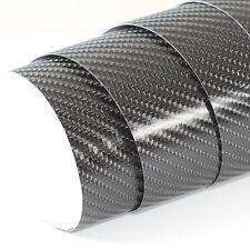 DIN A4 Wrapping Folie 4D Carbon Schwarz 21cm x 29,7cm Autofolie mit Luftkanälen