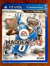 PlayStation PS Vita Madden NFL 13 New