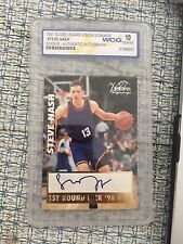 steve nash autographed rookie card graded 10 score board vision signings