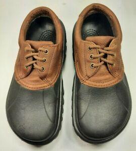 Crocs Shoes Unisex Leather Islander Lace Up Light Weight Near Mint! Sz Wn10 Mn8