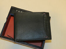 Tommy Hilfiger Passcase Valet bifold wallet black TH Mens credit card ID photo
