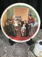 "Norman Rockwell Gorham The Annual Visit 10.5"" Collector Plate"