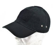 "Cappello / Cap ""Tactical"" Black with VELCRO® brand hook"