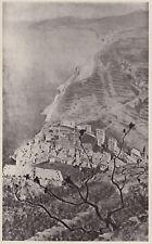 D4958 Telemaco Signorini - Riomaggiore visto dal Santuario - Stampa - 1938 print