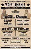 Wrestlemania 2016 Dean Ambrose Old School Wrestling Print 8x10 WWF WWE WCW