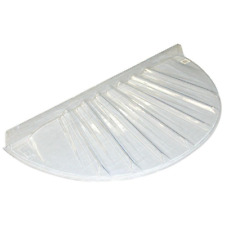 Circular Plastic Window Well Cover Low Profile 40 x 17 in. Basement Window Cover