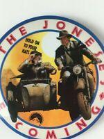 Indiana Jones - Last Crusade 2 Vtg Promo Pins from 1989 Paramount Studio Pinback