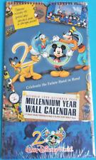 Wdw 2000 Millennium Disney Wall Calendar, Stickers Celebrate Future Hand/Hand