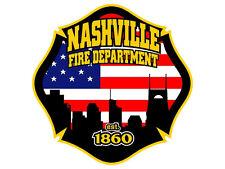 4x4 inch Maltese Shaped NASHVILLE FIRE DEPARTMENT Sticker - firefighter tn logo