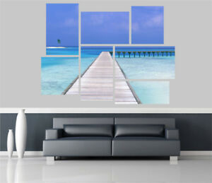 Beautiful Exotic Beach View Removable Self Adhesive Wall Picture Poster EX 1274