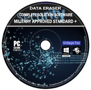 Data Eraser Total Wipe Format Clean Delete HD SSD Drive PC MAC Windows Boot CD