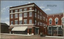 Brookfield MO Masonic Temple c1910 Postcard rpx