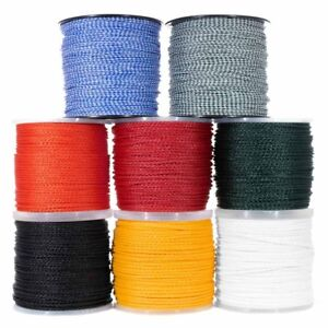Hollow Braid Polypropylene Rope – Large Variety of Colors and Diameters