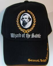 CONFEDERATE GENERAL NATHAN B FORREST CAP - NEW EMBROIDERED BLACK HAT
