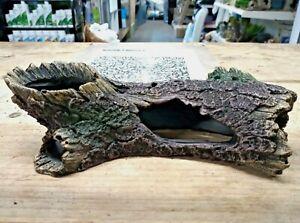 Realistic Log Cave Tree Hideaway Tunnel Fish Tank Aquarium Decor Ornament
