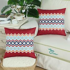 CaliTime Set Of 2 Throw Pillow Covers- Bohemian Style - New   18 X 18
