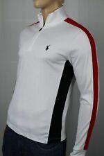 Polo Ralph Lauren White 1/2 Half Zip Pima Cotton Mockneck Pullover NWT