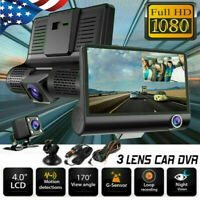 "1080P 4""Car DVR Dual Lens Dash Cam Front and G-sensor Rear Video Recorder Camera"