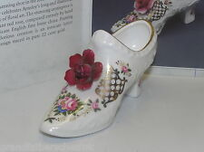 AYNSLEY MINIATURE SHOE RED ROSE COMPTON & WOODHOUSE 1994  LOVELY