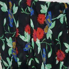 Blue Bird Print Scarf Floral Lightweight Spring Fall