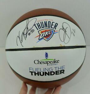Oklahoma City Thunder Signed Basketball Kevin Durant #35 Jeff Green #22