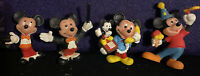 "Lot Of 4 Disney Mickey Mouse Figures - 2"" Tall - Mickey On Phone And More"
