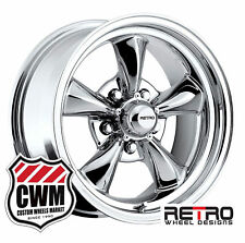 "15 inch 15x7"" / 15x8"" Retro Chrome Wheels Rims 5x4.75"" for Olds Cars 1964-1981"