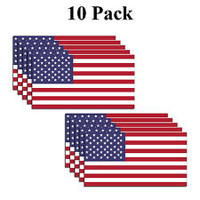 PACK OF 10 American Flag Decal USA Sticker Made in USA 3M military marines Army