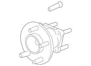 Genuine GM 2004-2010 Chevrolet Pontiac Rear Wheel Hub and Bearing 15798483