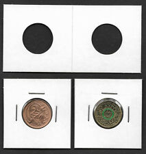 COIN HOLDERS Square 2 x 2 Staple Type 22.5mm Suits $2 & 2c Coins Pack of 25