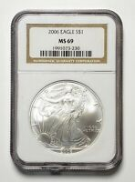 2006 United States American Silver Eagle 1 Oz .999 NGC MS 69