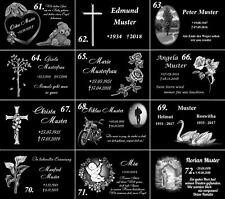 Grabschmuck aus Schiefer m.Trauerspruch Der Himmel Grabstein Grabplatte 30x20cm