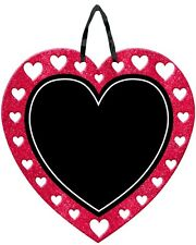 CHALKBOARD HEART GLITTER SIGN PARTY DECORATION VALENTINES DAY ENGAGEMENT WEDDING