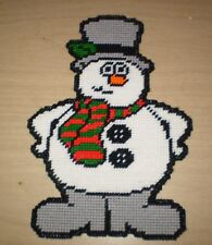 Snowman Wall Hanging Christmas Plastic Canvas Pattern Frosty