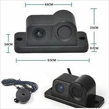 Backup Parking Camera 2in1 Radar Sensor Wide Angle Car Visual Reverse Camera