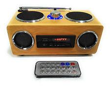 Echtholz Stereo Kamin Sound Box Radio Fernbedienung Knister Elektro Gas Feuer