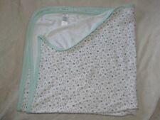 Precious Firsts Owl Rhinoceros Sheep Lamb Baby Blanket Cotton Brown White Green