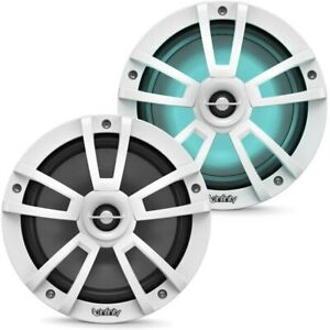 """NEW Infinity 822MLW 8"""" 2-Way Coaxial Marine Audio Speakers, WHITE (1 Pair)"""