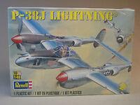REVELL P-38J LIGHTNING AIRPLANE MODEL KIT aircraft 1:48 Scale plane 85-5479 NEW