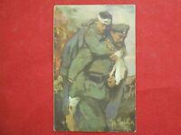 Postkarte Original Deutschen Vereine V-Roten Kreuz