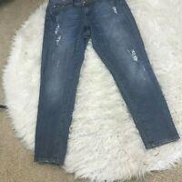 Womens Lane Bryant Distressed Medium Wash Denim Jeans Size 14