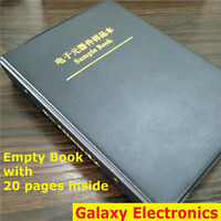 Empty Sample Book with 20 Empty pages For 0402/0603/0805/1206 SMD Components