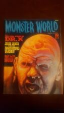 Monster World #8 Warren Magazine 1966 DR.X & MOON KILLER FINE to FINE+ CONDITION