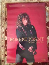 Robert Plant Manic Nirvana Tour rare promotional poster from 1990 Led Zeppelin