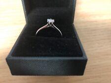 9ct White Gold 1/4 Carat Diamond Ring