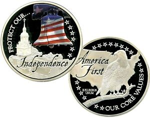 PROTECT OUR  INDEPENDENCE COMMEMORATIVE COIN PROOF VALUE  $89.95