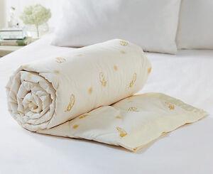 Exclusive Luxury Duck & Feather Down Blanket Throw Eiderdown lightly quilted
